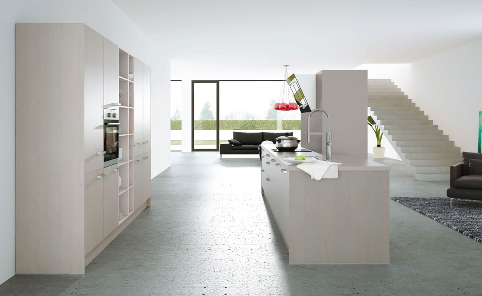 Platinum Oak German Kitchen