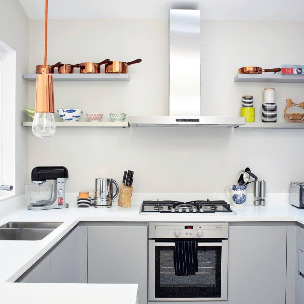 Stone Grey Handleless Kitchen with HiMacs Worktop