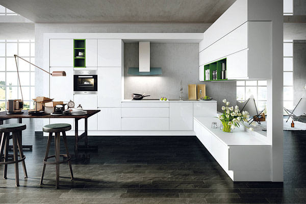 Crystal White Gloss Kitchen