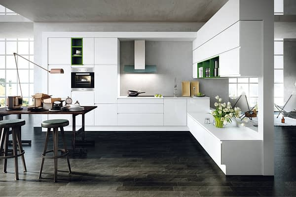 Crystal White Gloss Kitchen