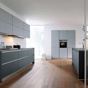 Lava Black and Stone Grey Kitchen