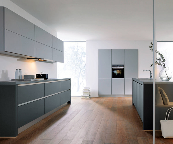 Lava Black and Stone Grey Kitchen