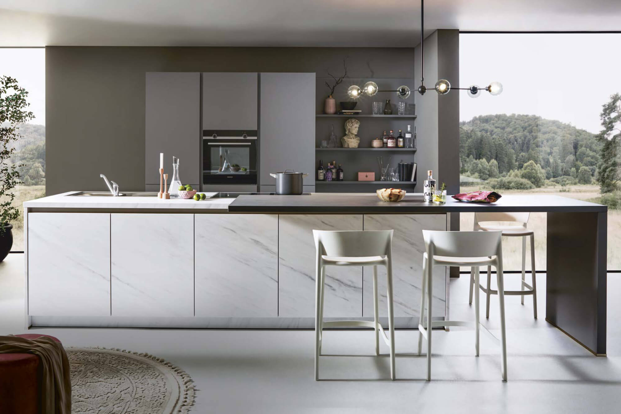 Island Kitchen with Seating
