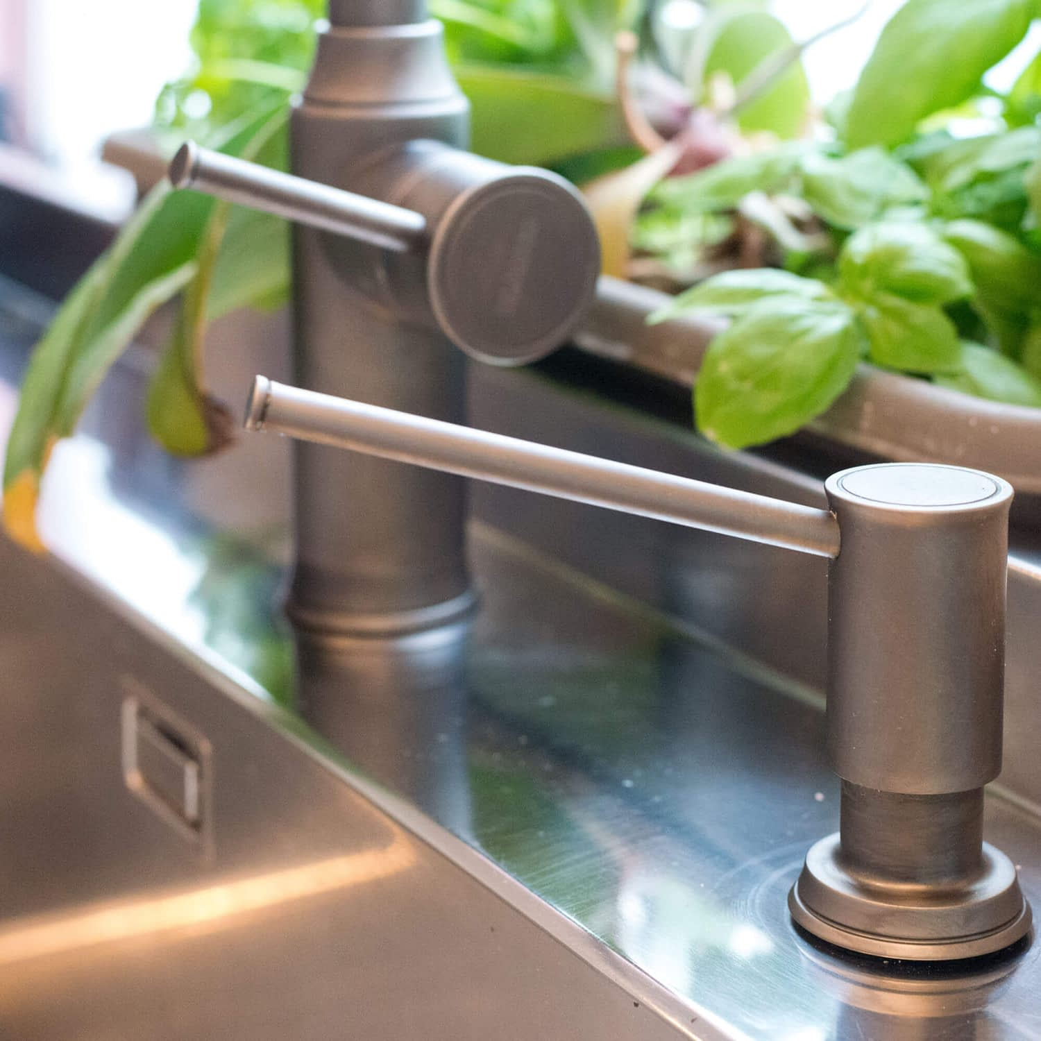 Stainless Steel Sink and Tap Detail