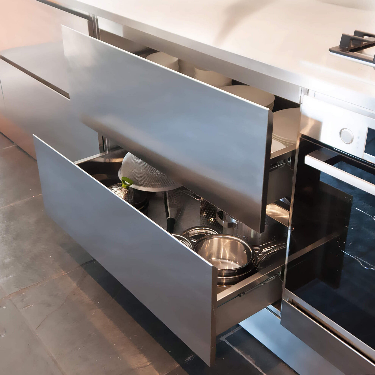 Stainless Steel Plate Drawers