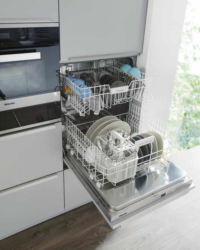 Integrated high level dishwasher