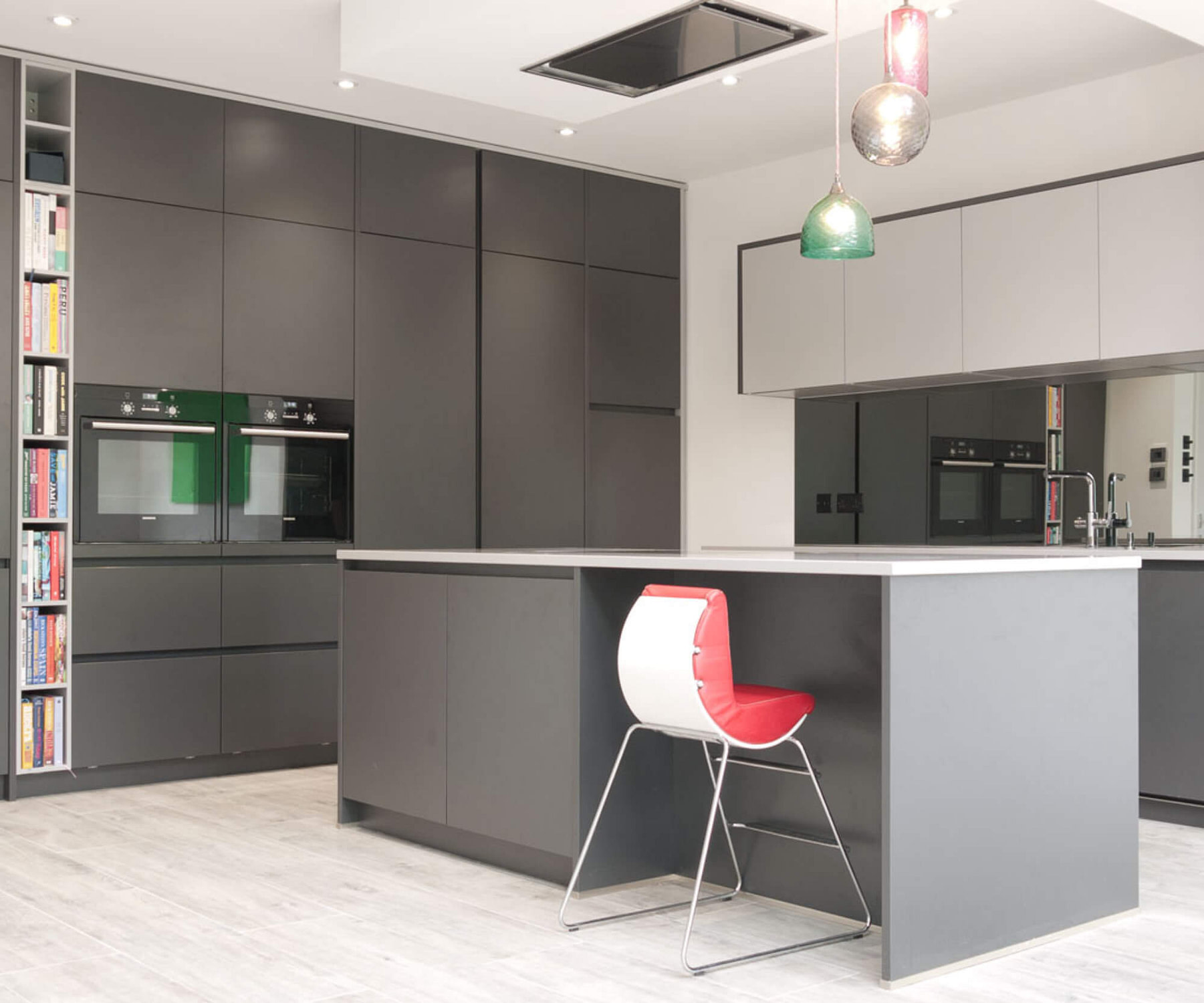 Lava Black Kitchen with Tall Cupboards