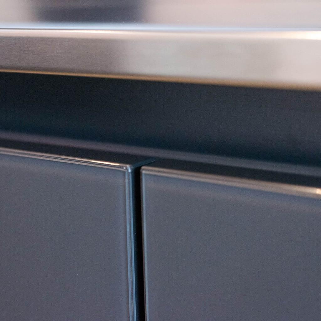 Stainless Steel Worktop Edge Detail