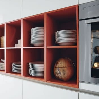 Satin lacquer shelves