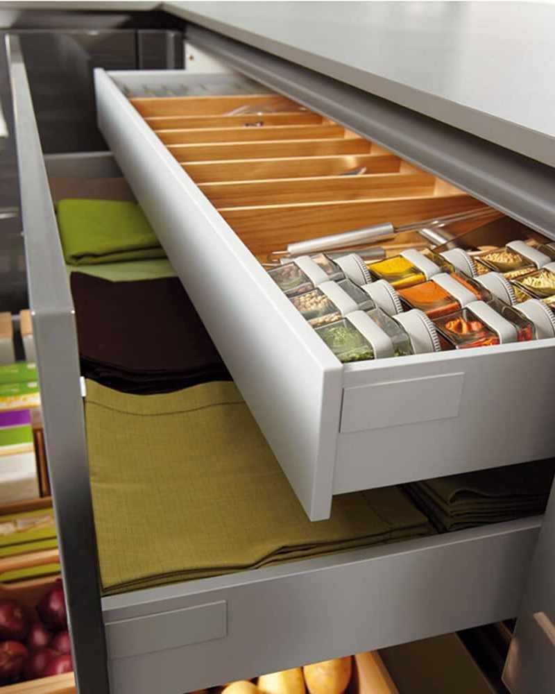 Oak drawer organisers
