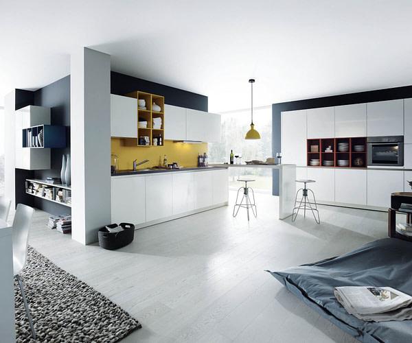 Crystal White Handleless Kitchen