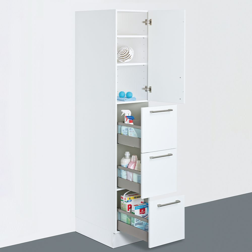 Tall cupboard with drawers