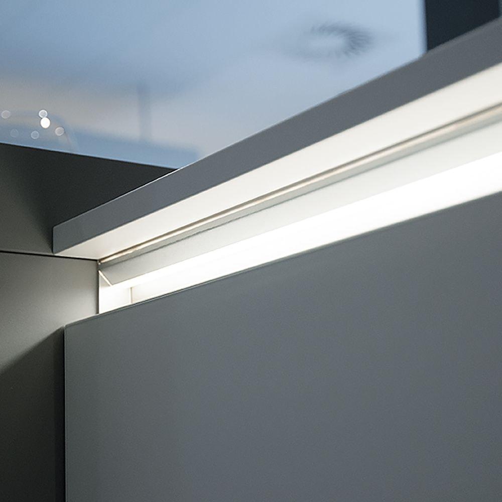 Worktop edge lighting