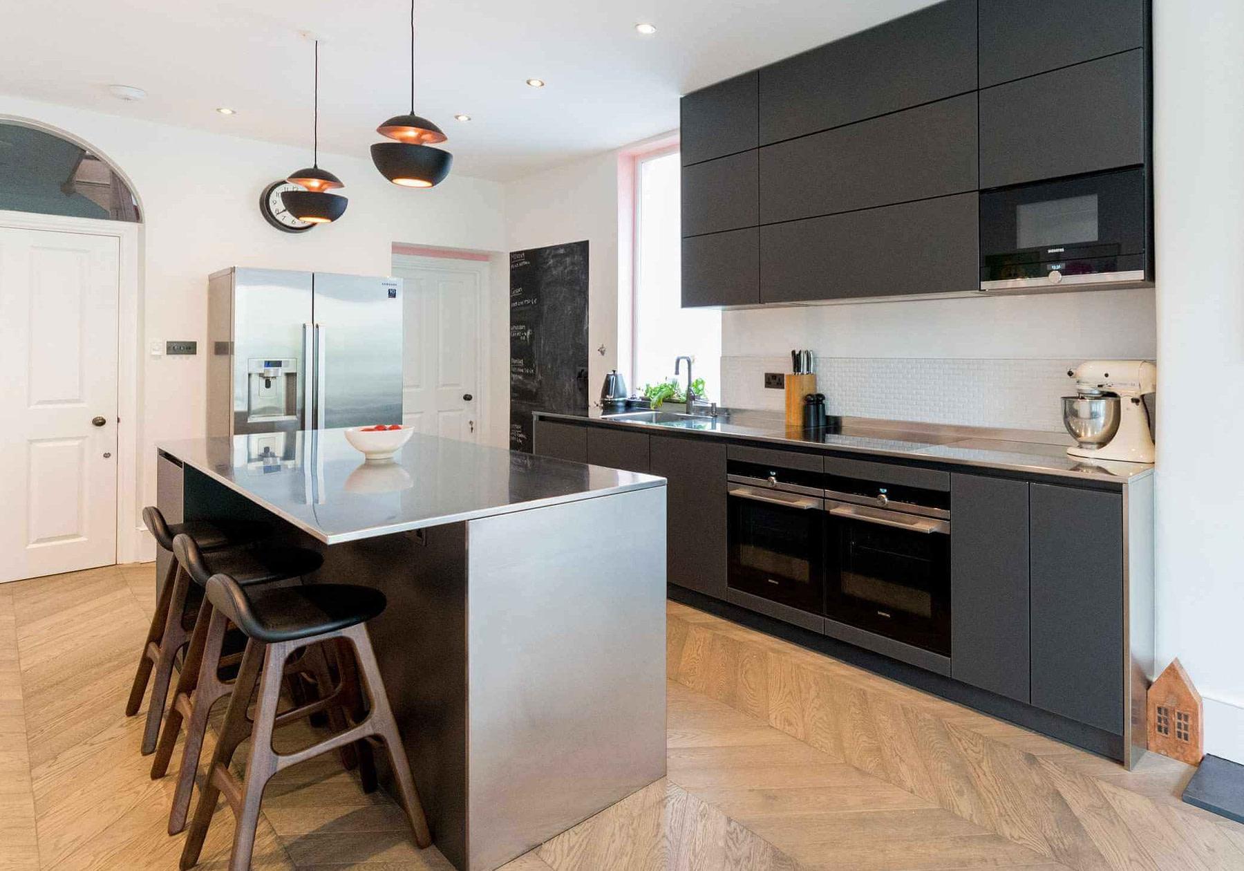 Lava Black Matt Glass Kitchen