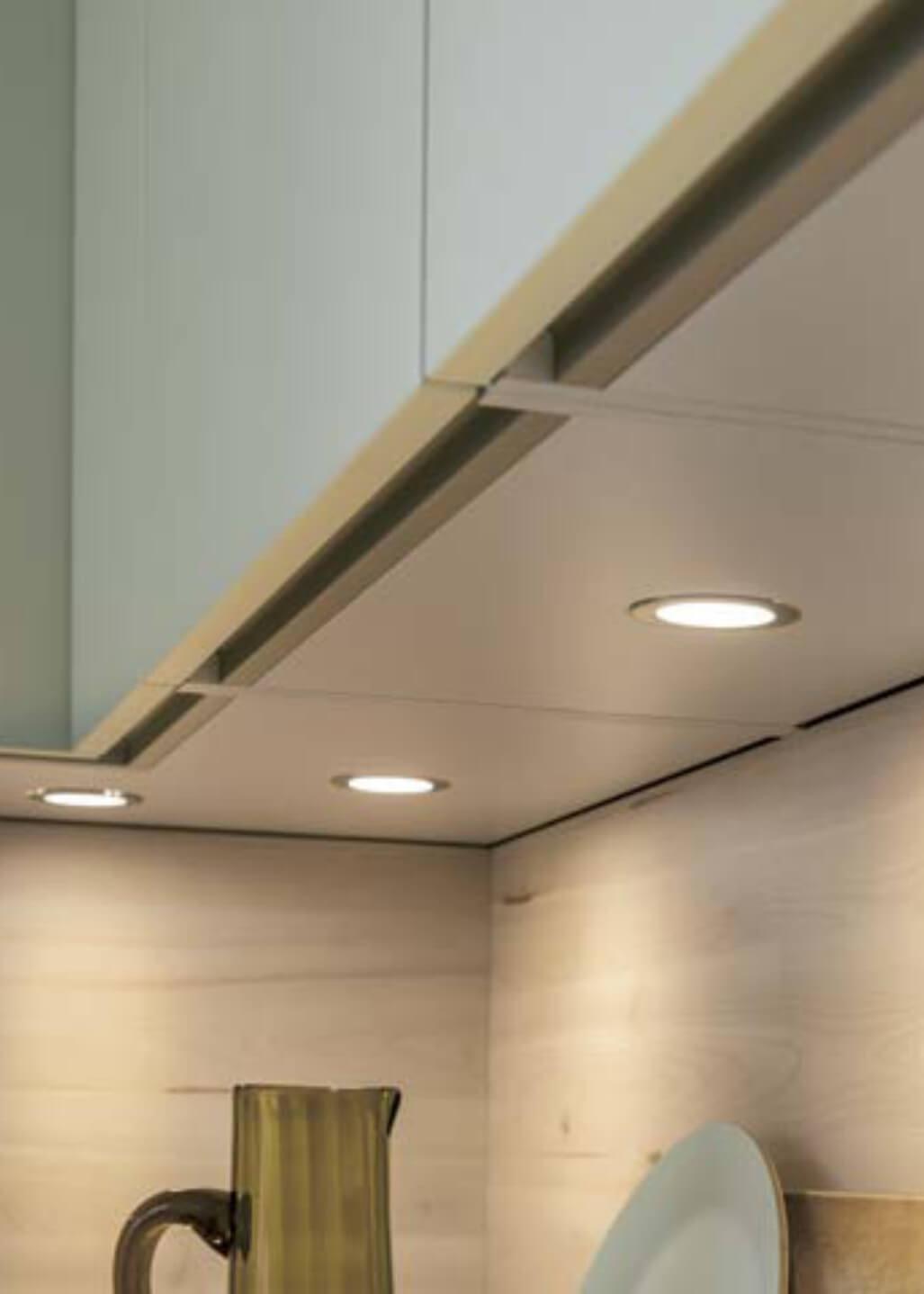 Integrated under cupboard LED lighting