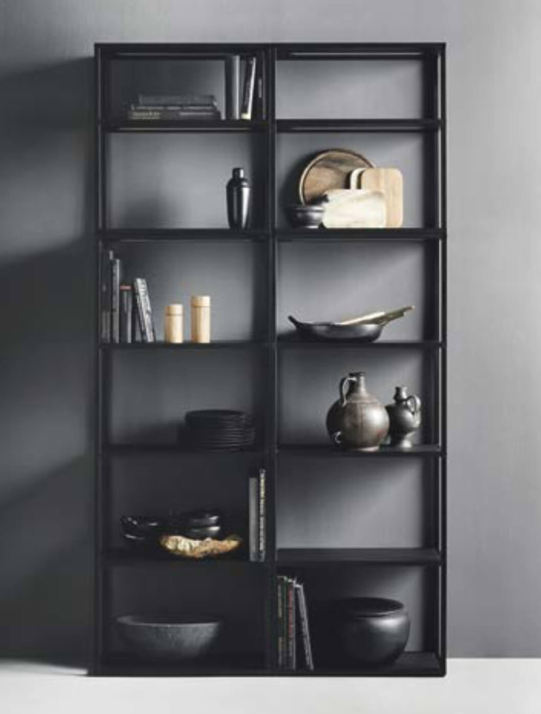 Onyx Black Metal Shelves