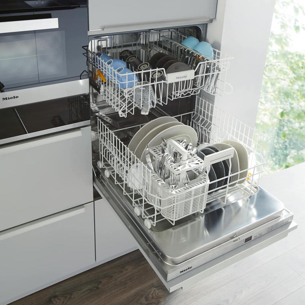 Dishwasher in tall cupboard