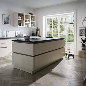 Magnolia Handleless Island Kitchen