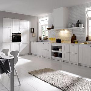 Farmhouse Kitchen White Satin Lacquer