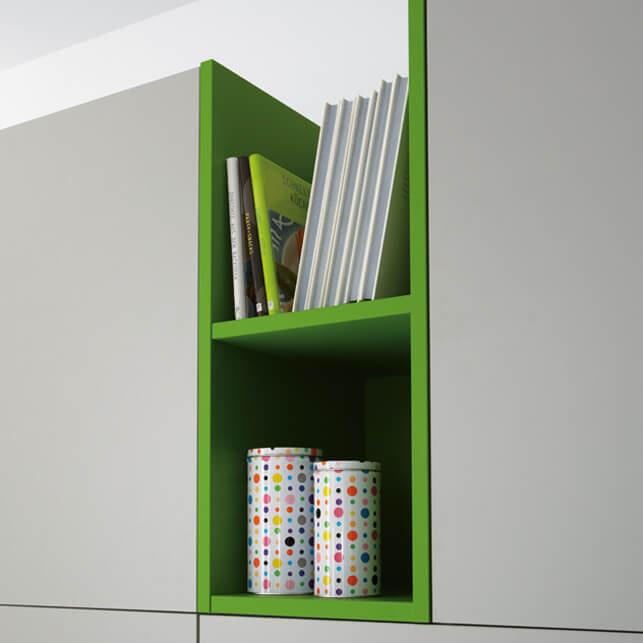 Satin lacquer shelves