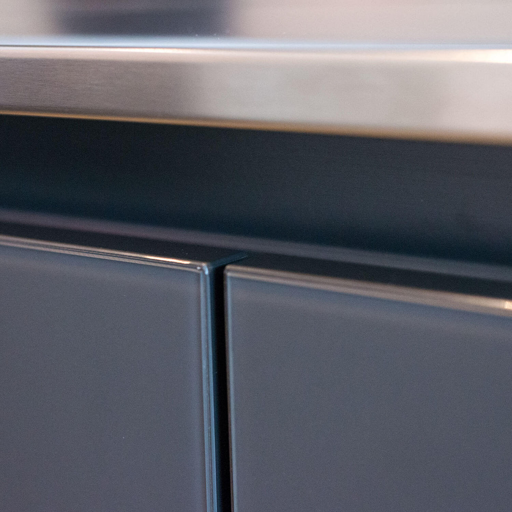 Worktop edge detail