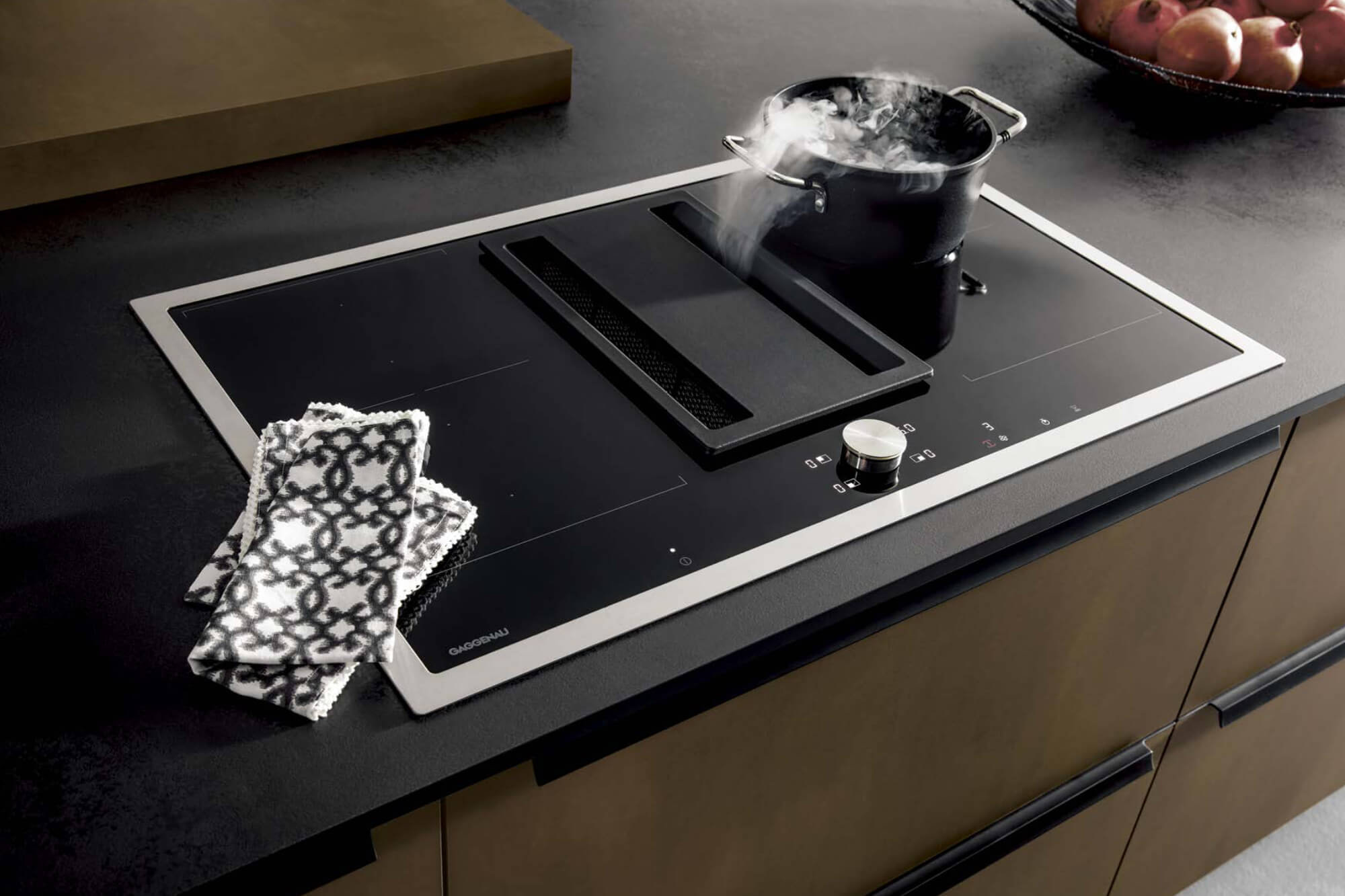Gaggenau induction hob with downdraft extractor