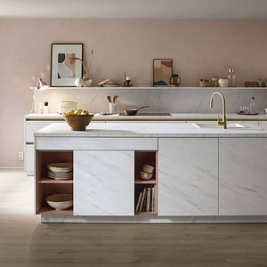 Reproduction marble island kitchen