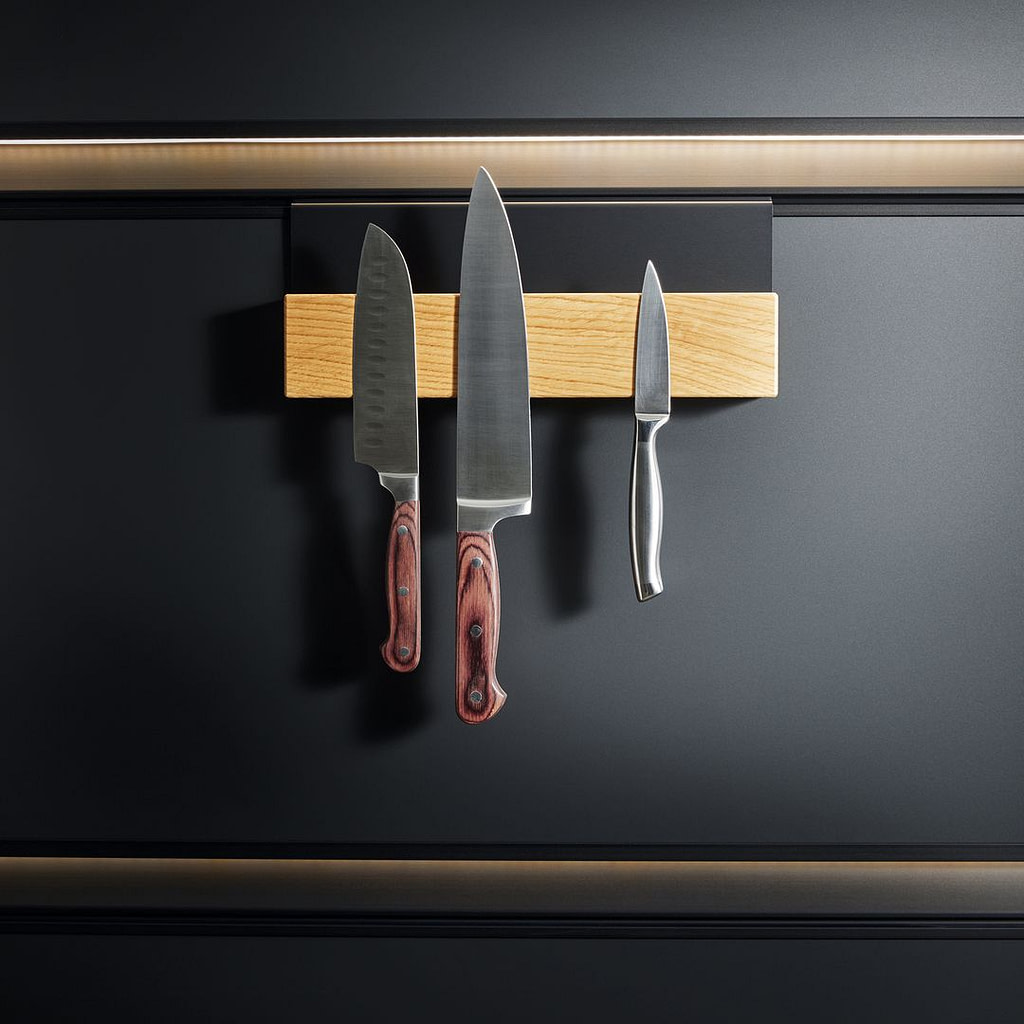 Magnetic knife block