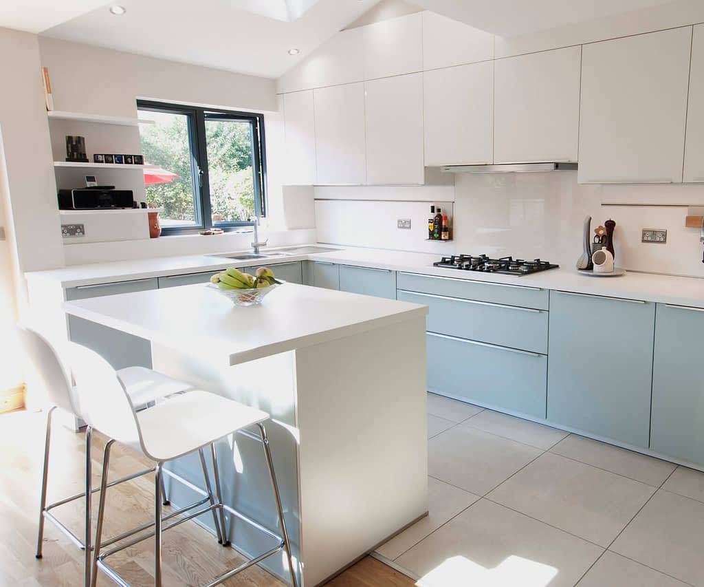 Glacier Blue Kitchen