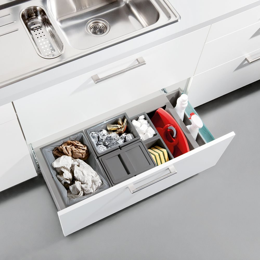 Waste sorting drawer