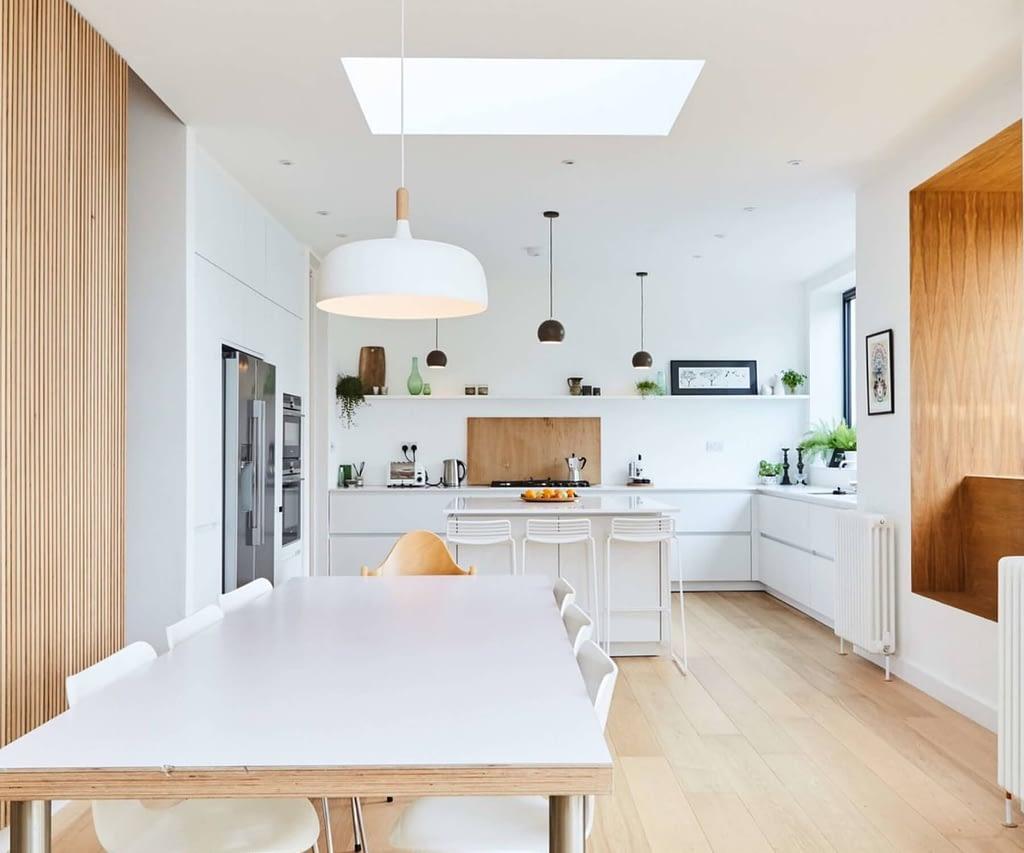 White Matt Handleless Kitchen