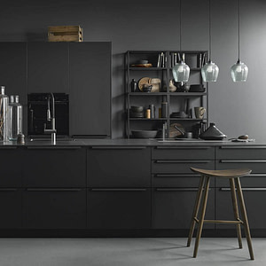 Onyx Black Matt Island Kitchen