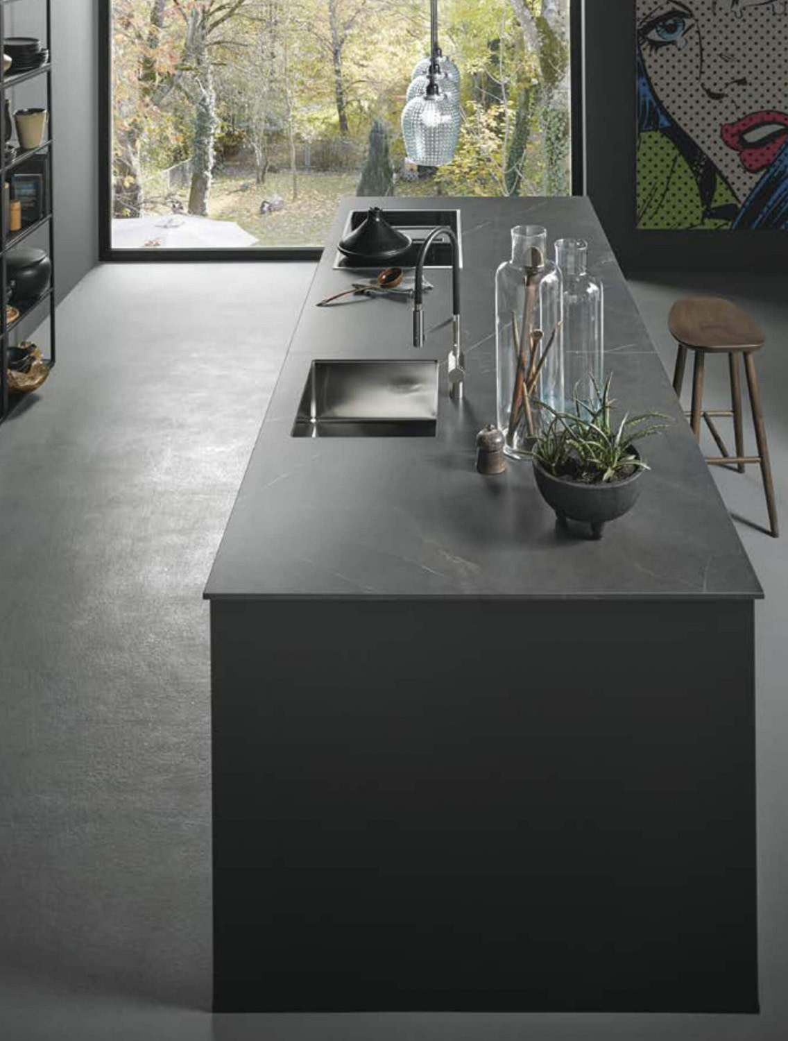 Onyx Black Kitchen Island