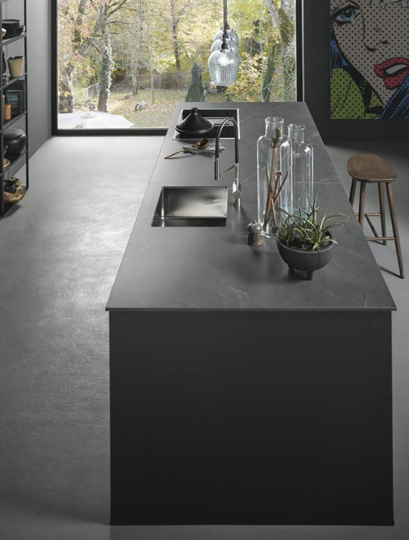 Onyx Black Kitchen Island