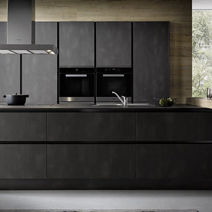 Dark Steel Reproduction Kitchen