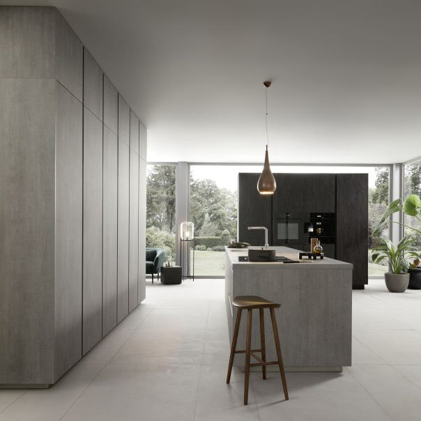 Concrete Grey Kitchen